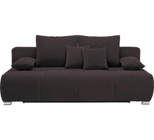 SCHLAFSOFA in Textil Anthrazit  - Chromfarben/Anthrazit, Design, Kunststoff/Textil (212/72-90/108cm) - Hom`in