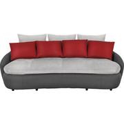 MEGASOFA - Rot/Schwarz, Design, Kunststoff/Textil (238/80/143cm) - Hom`in