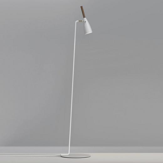 STEHLEUCHTE - Weiß, Design, Holz/Metall (30/150cm)
