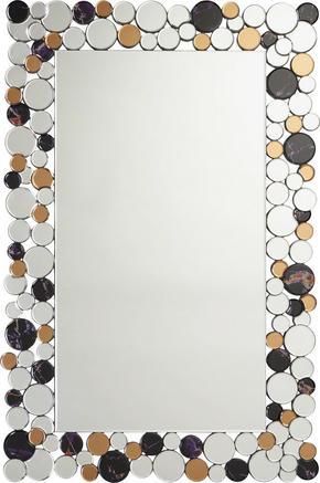 SPEGEL - brun/silver, Design, glas/träbaserade material (79/120/2cm) - Xora