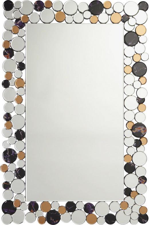 SPIEGEL - Silberfarben/Schwarz, Design, Glas/Holzwerkstoff (79/120/2cm) - XORA
