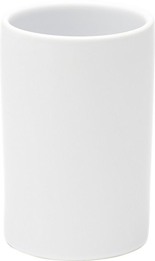 ZAHNPUTZBECHER - Weiß, Basics (6/18cm)
