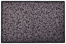 FUßMATTE 60/40 cm Ranken Grau - Grau, Basics, Kunststoff/Textil (60/40cm) - Esposa