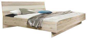 BETT 180/200 cm  in Weiß, Eichefarben   - Eichefarben/Weiß, Design, Holzwerkstoff (180/200cm) - Carryhome