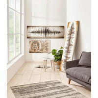 Abstraktes BILD - Silberfarben/Goldfarben, Design, Holz (180/60cm) - Monee