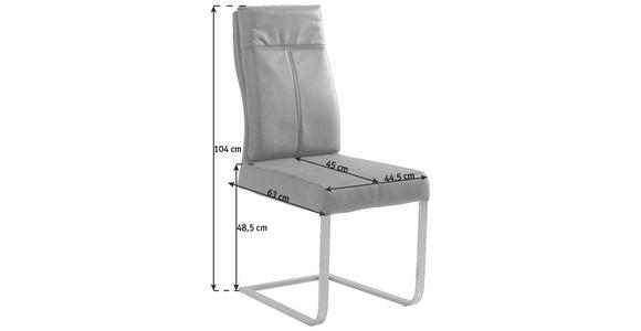 SCHWINGSTUHL in Metall, Textil Dunkelgrau, Edelstahlfarben - Edelstahlfarben/Dunkelgrau, Design, Textil/Metall (44,5/104/63cm) - Hom`in