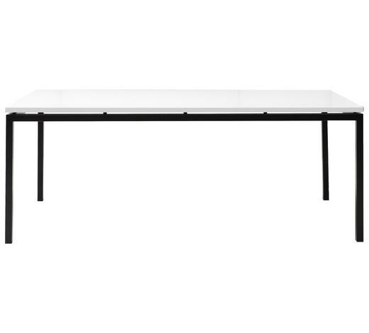 JÍDELNÍ STŮL, černá, bílá - bílá/černá, Design, kov/kompozitní dřevo (160/90/75cm) - Ambia Home