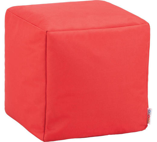 SITZWÜRFEL in Textil Rot  - Rot, Design, Textil (40/40/40cm) - Boxxx