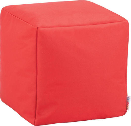 SITZWÜRFEL Rot - Rot, Design, Textil (40/40/40cm) - Carryhome