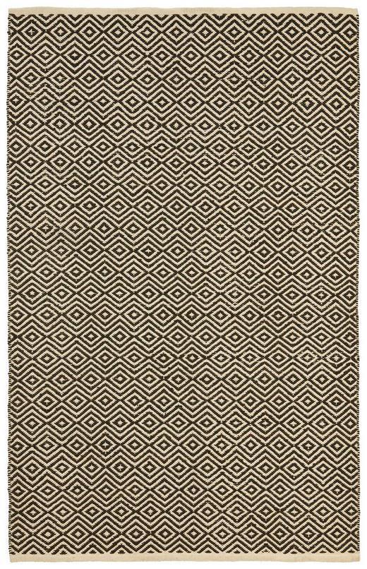 FLECKERLTEPPICH - Schwarz/Naturfarben, KONVENTIONELL, Leder/Textil (60/90cm) - Boxxx