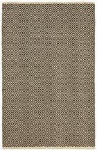 PATCHWORK TEPIH - crna/natur boje, Konvencionalno, koža/tekstil (60/90cm) - Boxxx