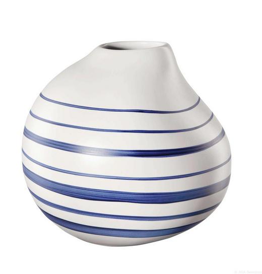 VASE 16 cm - Blau/Weiß, Keramik (17,8/16cm) - ASA