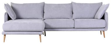 WOHNLANDSCHAFT in Textil Hellblau  - Naturfarben/Hellblau, Design, Holz/Textil (160/270cm) - Carryhome
