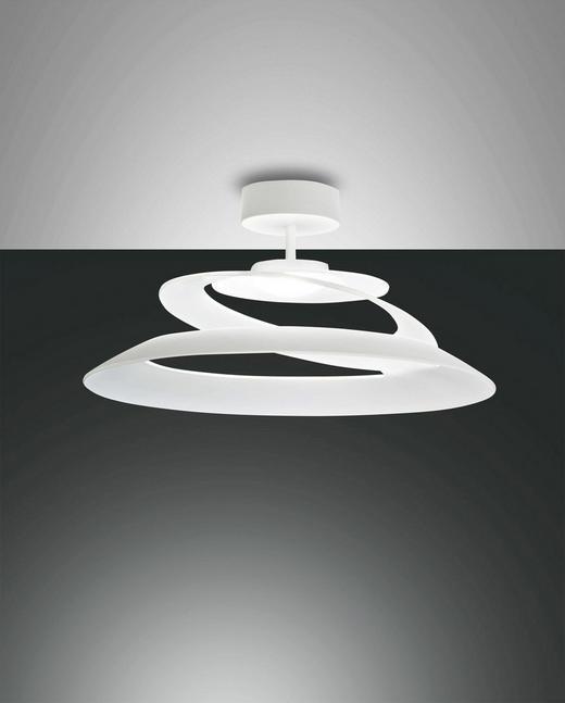 LED-DECKENLEUCHTE - Weiß, Design, Glas/Metall (53/25cm)