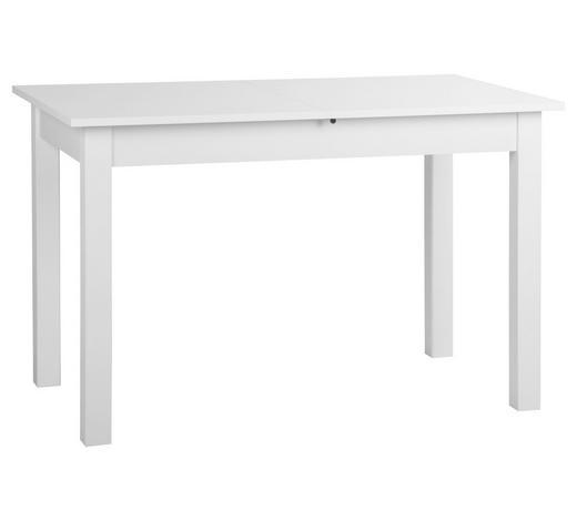 AUSZIEHTISCH in Holzwerkstoff 120(160)/70/76,5 cm   - Weiß, Basics, Holzwerkstoff (120(160)/70/76,5cm) - Carryhome
