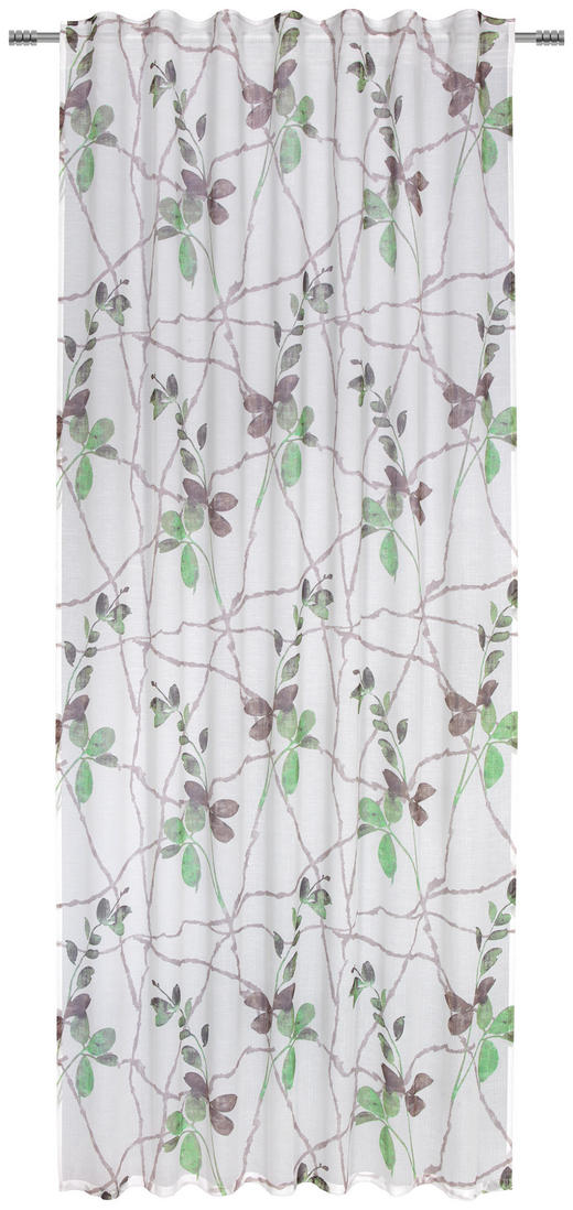 FERTIGVORHANG  halbtransparent - Grün, Trend, Textil (140/245cm) - Esposa