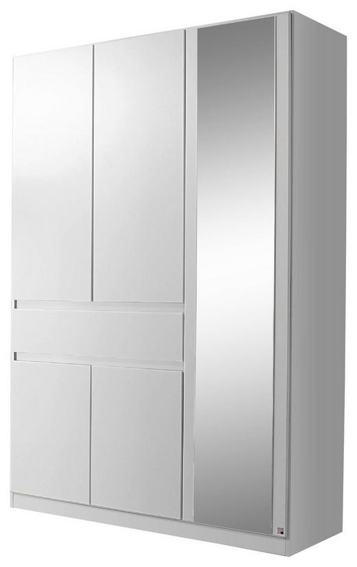 KLEIDERSCHRANK 5-türig Weiß - Weiß, Design, Glas/Holzwerkstoff (136/197/54cm) - Carryhome