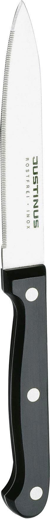TOMATENMESSER   21 cm - Silberfarben/Schwarz, Basics, Kunststoff/Metall (21cm) - JUSTINUS
