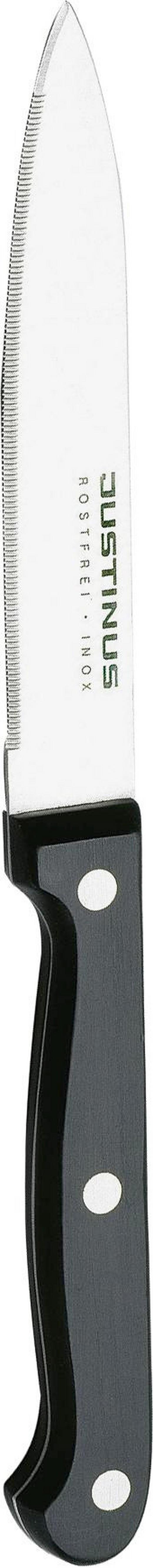 TOMATENMESSER 21 cm - Silberfarben/Schwarz, KONVENTIONELL, Kunststoff/Metall (21cm) - JUSTINUS