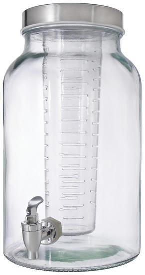 DRYCKESBEHÅLLARE - transparent/rostfritt stål-färgad, Basics, metall/glas (5,6cm) - Homeware