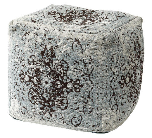 HOCKER Grau, Türkis  - Türkis/Grau, Design, Textil (45/45/45cm) - Carryhome