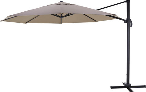 ZGLOBNI SUNCOBRAN - Sivosmeđa/Siva, Konvencionalno, Tekstil/Metal (350/265cm) - Ambia Garden