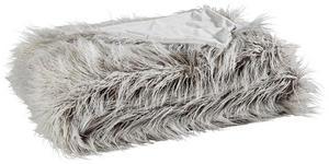 FELLDECKE 150/200 cm Silberfarben  - Silberfarben, Design, Textil (150/200cm) - Novel
