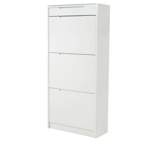 SCHUHSCHRANK Weiß  - Weiß, Design, Glas (63/134/24cm) - Carryhome