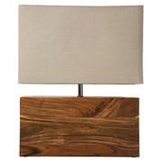 TISCHLEUCHTE  - Beige/Naturfarben, Natur, Holz/Textil (33/43/10cm) - Kare-Design