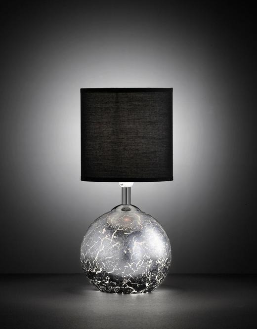 TISCHLEUCHTE - Silberfarben/Schwarz, LIFESTYLE, Glas/Textil (15,2/33,5cm)