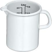 MESSBECHER - Weiß, Basics, Metall (0,6l) - Riess