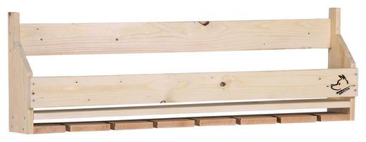 WANDREGAL massiv Naturfarben - Naturfarben, Trend, Holz (120/38/17cm) - Carryhome
