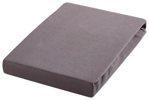 SPANNBETTTUCH Biber Titanfarben bügelfrei - Titanfarben, Textil (200/200cm) - Janine