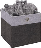 SKLÁDACÍ KRABICE - světle šedá/antracitová, Design, kov/karton (32/32/32cm) - Carryhome