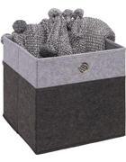 SKLOPIVA KUTIJA   32/32/32 cm   - svijetlo siva/antracit, Design, karton/metal (32/32/32cm) - Carryhome