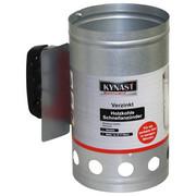 Anzündkamin verzinkt - Zinkfarben, KONVENTIONELL, Kunststoff/Metall (30/27/16cm)
