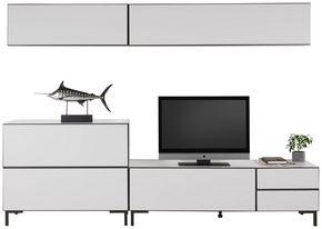 HYLLKOMBINATION - vit/antracit, Modern, metall/träbaserade material (272/190/50cm) - Carryhome