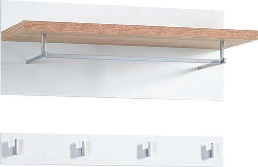 GARDEROBENPANEEL Sonoma Eiche, Weiß - Weiß/Sonoma Eiche, Design (76/35/30cm) - Carryhome