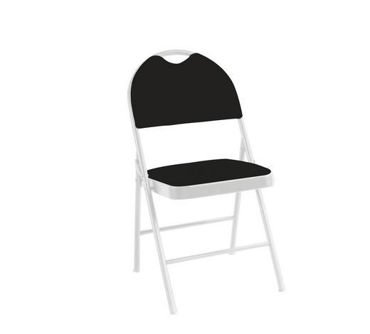 KLAPPSESSEL Schwarz, Weiß  - Schwarz/Weiß, Design, Textil/Metall (47/88/49,5cm) - Carryhome