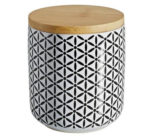 DÓZA NA POTRAVINY - bílá/černá, Lifestyle, dřevo/keramika (10/11cm) - Landscape