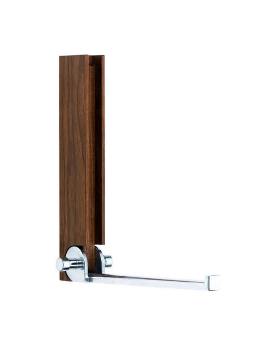 WANDHAKEN - Nussbaumfarben, Design, Holz (7/24/7/26cm)