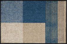 FUßMATTE 50/75 cm Graphik Beige, Blau - Blau/Beige, Kunststoff/Textil (50/75cm) - Esposa