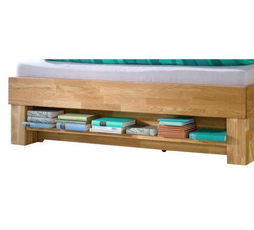 BETTREGAL in Naturfarben, Eichefarben - Eichefarben/Naturfarben, Design, Holz (123/22/10cm)