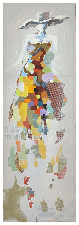 Abstraktes, Frauen ÖLGEMÄLDE - Multicolor, Basics, Holz/Textil (60/180cm) - Monee