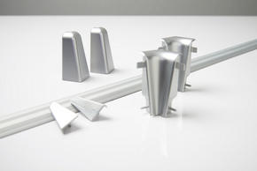 ÄNDSTYCKE TILL SOCKELLIST - silver, Basics (-/2,01/3,96cm)