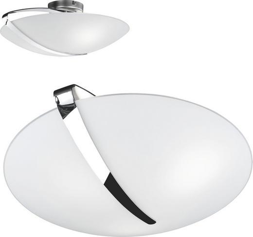 DECKENLEUCHTE - Chromfarben/Weiß, KONVENTIONELL, Glas/Metall (44/15cm)