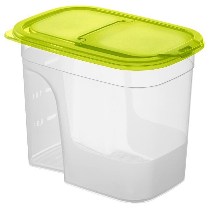 FÖRVARINGSBURK - grön/transparent, Klassisk, plast (20/14/16cm) - Rotho