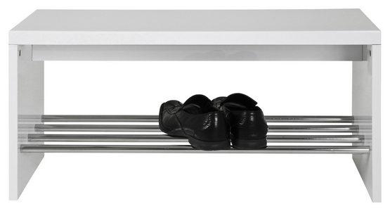 KLUPA ZA PREDSOBLJE - Bela, Konvencionalno, Metal/Pločasti materijal (81/40/30cm)