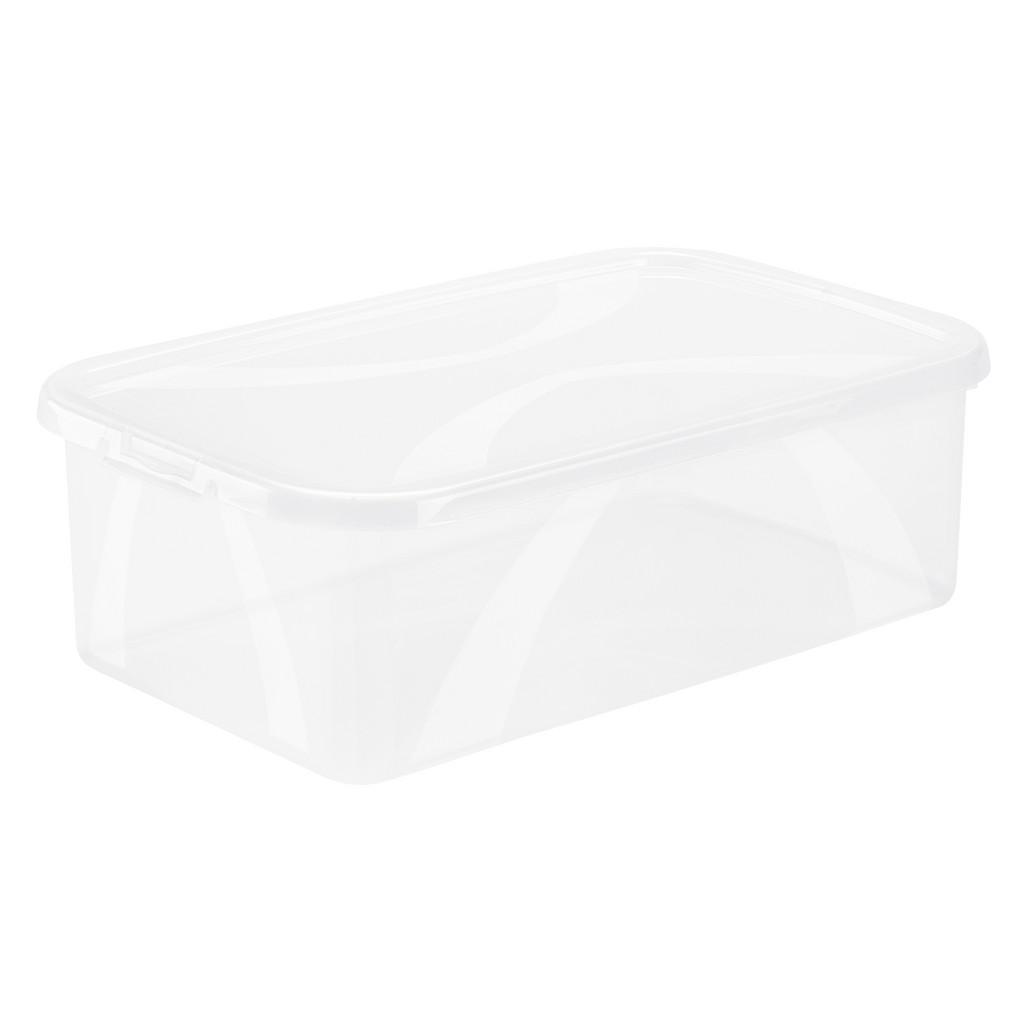 Image of Rotho Box mit deckel 34,4/20,2/10,6 cm , 1163400096 , Naturfarben , Kunststoff , 20.2x10.6 cm , Deckel abnehmbar, stapelbar , 003294001802
