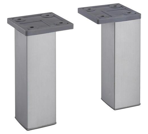 FUßSET - Silberfarben, Basics, Kunststoff (10cm) - Xora